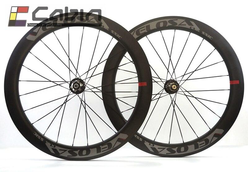 Velosa Disc 60 freno carretera ruedas. 700C rueda de bicicleta de carretera de carbono, freno de disco, 60mm clincher/tubular rueda cyclocross