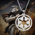 High Quality Movie Alloy Jewelry STAR WARS Galactic Empire Logo Pendants & Necklaces