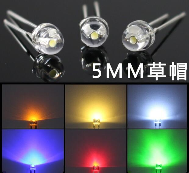 Diodes F5 5mm Warm White Red Green Blue Yellow Orange Pink Purple Rgb 24v Led Lamp Light With 20cm Wire For Toy Diy Plug X 100pcs