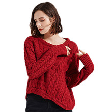 2018 new Loose sweater women irregular sweater autumn fashion Long sleeves Pullovers Round neck knitted sweater clothing ll724 цена