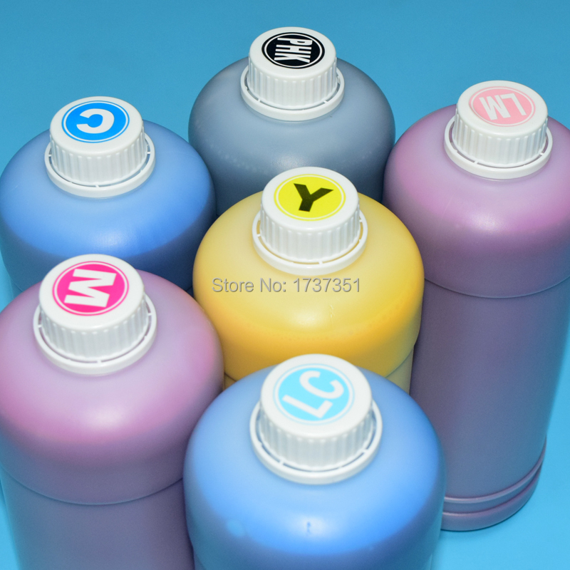 6 color IC80 500ml printing pigment ink for epson EP-977 EP-907 EP-807 EP-707 EP-777 Printer refill ink cartridge and ciss