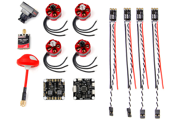 FPV Drone Combo Advanced Version F3 Flight Control Motor ESC Antenna For KingKong RAMMUS 180/RAMMUS 200 mini Camera drone kingkong force 80 power combo