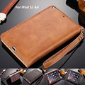 For iPad Air 5 Luxury Leather Business Wallet Handheld Stand Smart Case Cover For iPad 5 Air With Sleep/Wake Functions
