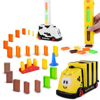 New Toy Car Set Automation Electricity Trains Children Education Intelligence Building Blocks Toys Gift Dominoes Dairy Cow Train
