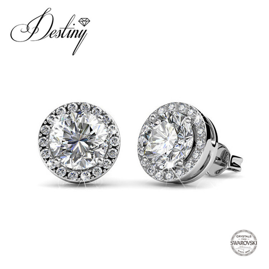 Destiny Jewellery 2017 Trending Products Embellished With Crystal From Swarovski  Earrings Refinement Crystal Stud Earring De0247