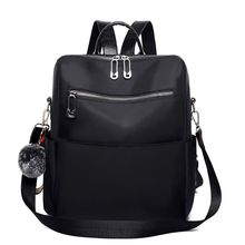 Zipper Solid Pattern Simple Casual Backpack Waterproof Nylon Anti-theft Lightweight Shoulder Bag Ladies Travel bags