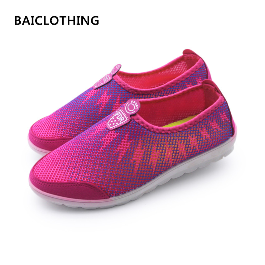 BAICLOTHING women cool summer mesh breathable shoes casual soft bottom flat shoes female leisure sport & outdoor shoes zapatos women cool mesh breathable shoes female sport and outdoor soft bottom shoes lady casual slip on shoes zapatos de mujer