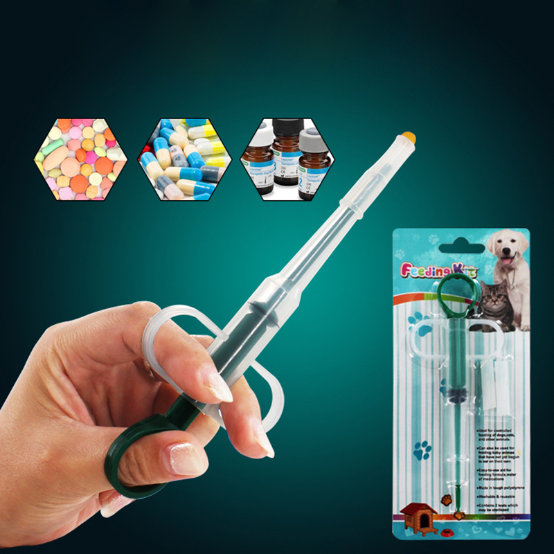 Random Color 1 Pc Pet Dog Cat Puppy Pills Dispenser Feeding Kit Given Medicine Control Rods Home Universal Pet Feeder #261549
