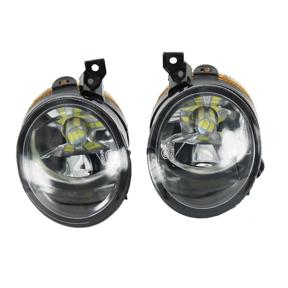 2 Pcs Pour VW Scirocco 2009 2010 2011 2012 2013 2014 Pare-chocs Avant LED Brouillard Lampe Brouillard Lumière