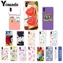 Yinuoda Cartoon anime rabbit watermelon fruit Transparent Cell Phone Case for iPhone X XS MAX  6 6s 7 7plus 8 8Plus 5 5S SE XR