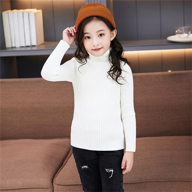 LILIGIRL Baby Girls Winter Turtleneck Sweater Colthes 2018 Autumn Boys Children Clothing Pullover Knitted Solid Kids Sweaters 4