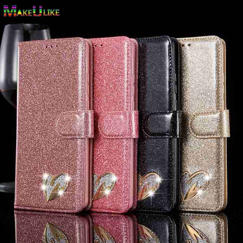 Caso Carteira Para Samsung galaxy S9 Note8 S8 Plus Capa Glitter PU de Couro Do Caso Da Aleta Para Samsung galaxy S7 Borda s8 S9 Nota 8 Capa