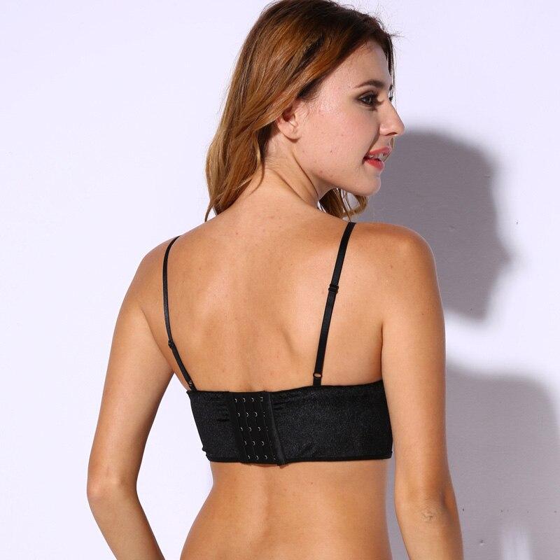 9c847f7ca08 Velvet Bralette Soft Triangle Bralet Outfit Crop Top Modest Elegant Bra  Cami Ladies lingerie-in Bras from Underwear   Sleepwears on Aliexpress.com