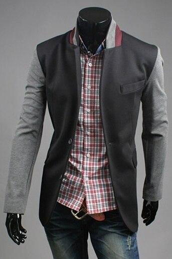 2016 Новая мода мужская заклинание цвет Лилин пиджак мужская одежда марка Вскользь Тонкой однобортный костюмы куртки пальто
