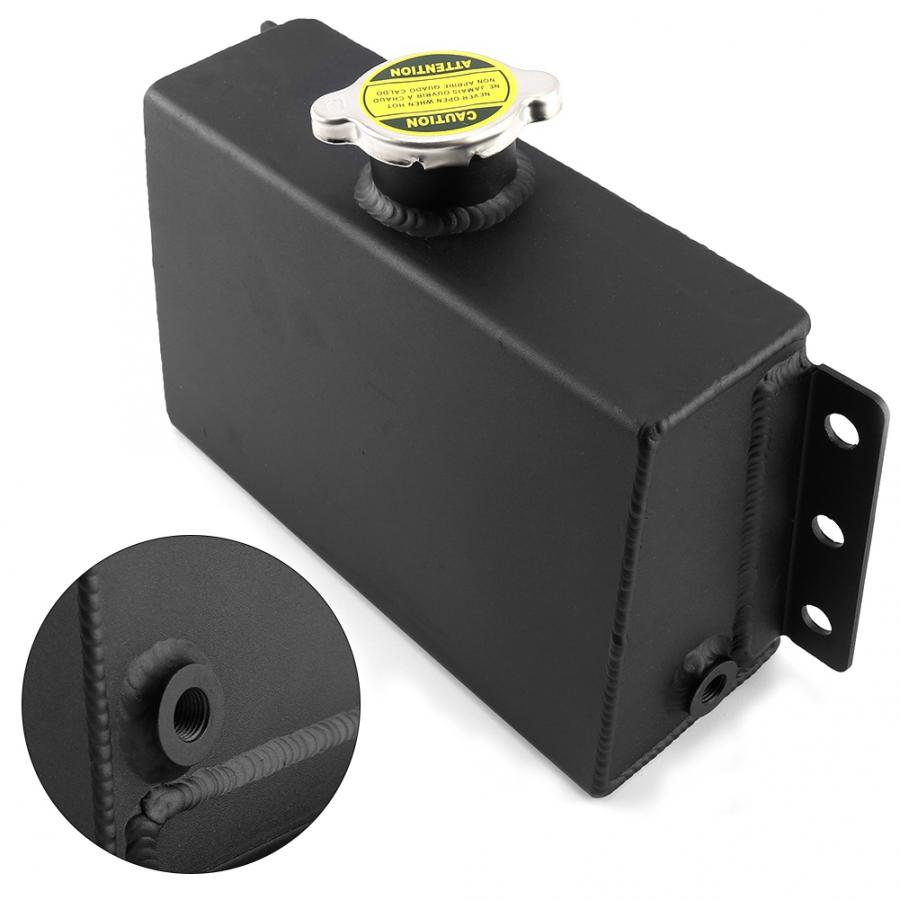 Réservoir d'eau auxiliaire de bouilloire de Dissipation thermique de voiture en aluminium 1.6L idéal pour la Modification des accessoires de voiture de réservoir d'huile