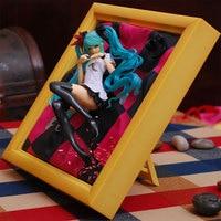 Hatsune Miku 1/8 scale painted Action Figure Anime Photo Frame Miku Princess Model sexy figure Dolls Toys