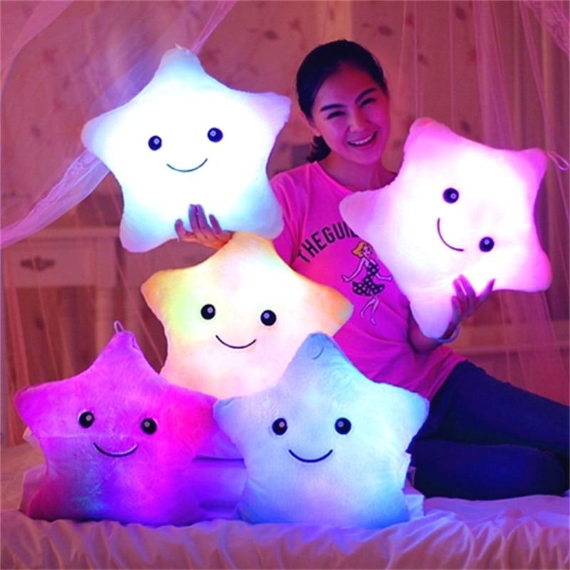 Cinci ascuțite perna lumina stele Confort copilul pernă de dormit - Produse noi și jucării umoristice