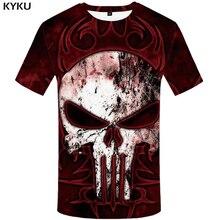 KYKU Brand Skull T shirt Women Punk Tshirt Punisher 3d T-shirt Clothes Tops Shirts Womens 2018 Casual High Quality Female цена и фото