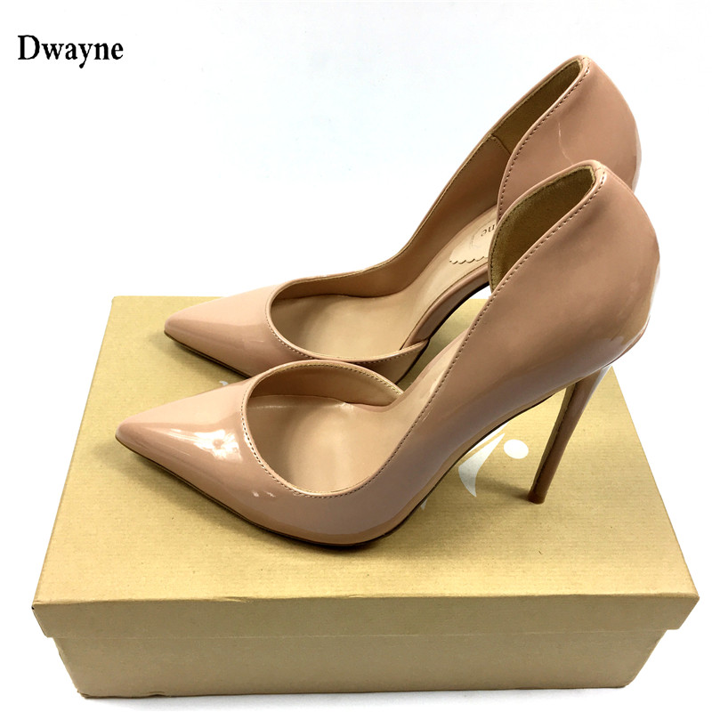 Brand Shoes Woman High Heels Pumps Red High Heels 12CM Women Shoes High Heels Wedding Shoes Pumps Black Nude Shoes Heels baoyafang white red tassels women wedding shoes bride 12cm 14cm high heels platform shoes woman high pumps female shoes