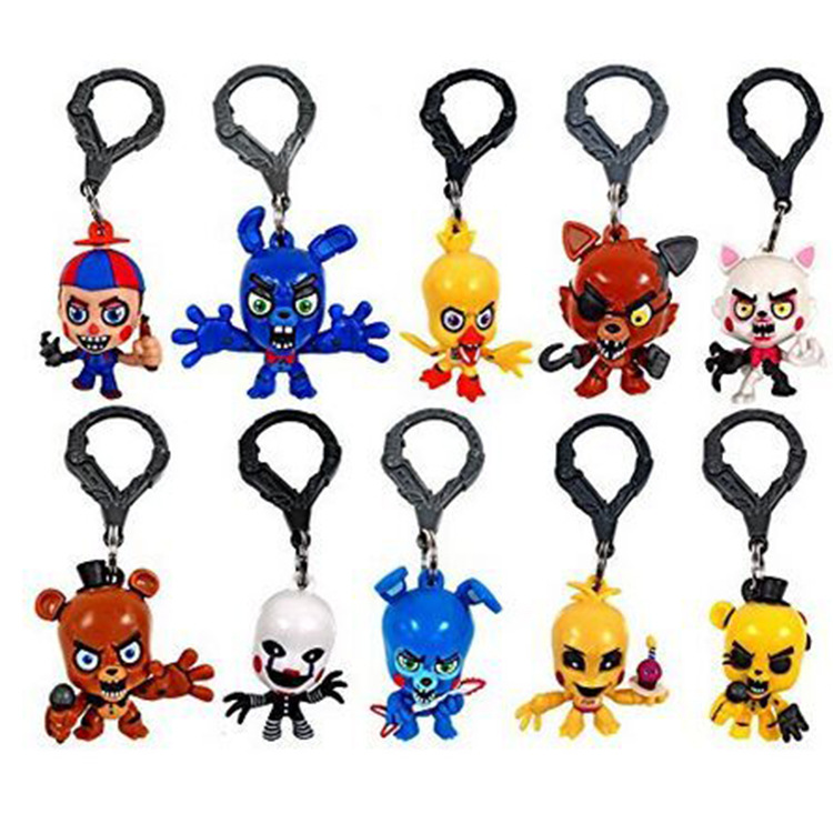 10 style One PC Five Nights At Freddy's FNAF Bonnie Foxy Freddy Fazbear Bear chica night at freddy Toys Doll keychain five nights at freddy s freddy backpack chica foxy bonnie fnaf shoulder 44x15x33 cm