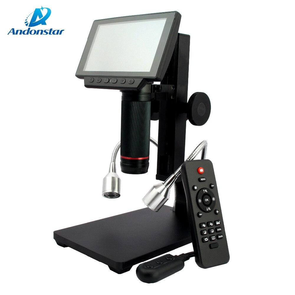 AndonstarNew HDMI/AV microscope objet long distance numérique microscope usb pour téléphone portable outil de réparation de soudure bga smt montre