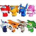 8 estilos Super Alas Mini Aviones Avión Deformación Cambiable Robot Figuras de Acción Juguetes figuras de acción de juguete Súper Alas FW045