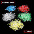 500Pcs 5MM LED Diode Kit Mixed Color Red Green Yellow Blue White 5 Colors 100pcs/color Free Shipping