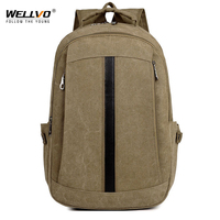 Men Women Canvas Solid Backpack For Teenage Girls Boys School Bag Vintage Backpacks Students Casual Travel