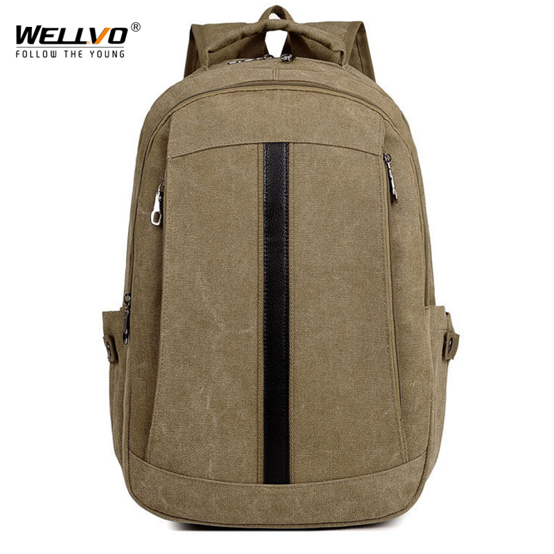 Men Laptop Backpack Male Canvas College Student School Backpacks Casual Rucksacks Boys Large Back Pack Bag Women Mochila XA1936C ...