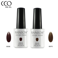 CCO Rainbow Amber Series Brown Color Nail Gel Polish Long Lasting Soak Off UV LED Nail