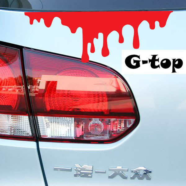 Car sticker cartoon bloodshed paint type car stickers bloodshed body window hood stickers auto