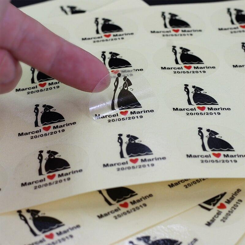 100 Pcs Transparent Stickers Stickers Wedding Supplies Decals Logo Eyelash Stickers Personalized Custom Name 3cm