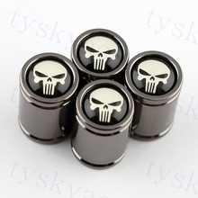 Punisher Skull Head Tyre Valve Cover