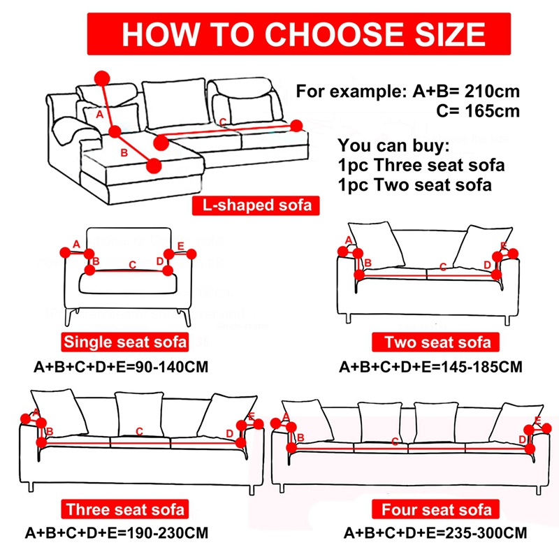 Image 5 - 1/2/3/4 Seater Printing Sofa Cover Modern High Elastic Polyester Couch Sofa Slipcovers Chair Furniture Protector Living Room-in Sofa Cover from Home & Garden