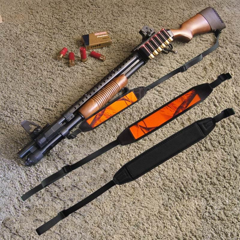 Accesorii pentru pistol de vanatoare cu turbinã Accesorii pentru arma de vanatoare pentru tunuri Curea pentru curele de rulare Curea pentru umăr pentru pușca portocalie Portocaliu reglabil pentru fotografiere Neopren
