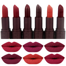 ZD Brand Lips Makeup Sexy Matte Lipstick 24 Colors Pigment Long Lasting Lip Stick  Red Smooth Gloss Cosmetics L070-24M