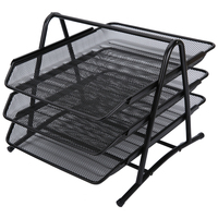 Three Layers Can Be Drawn Metal File Tray File Rack File Basket File Seat ADM94754