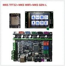 МКС GEN L + МКС TFT32 V4.0 ЖК-дисплей трогательно дисплей + МКС WI-FI модуль дешевые 3D принтер электронный встроенной до деталей