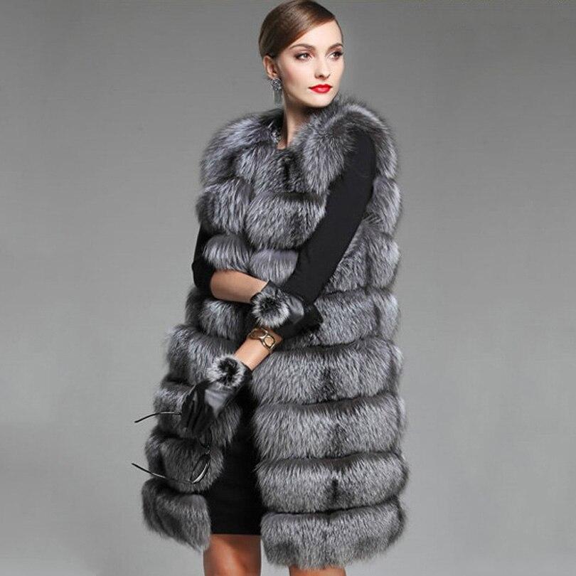 Manteau 2019 Fourrure Color Pour Pelliccia Renard Long Manteaux Vison Donna La Taille Femmes photo Lady Photo Color Gilet Plus Faux De D'hiver SOOBw