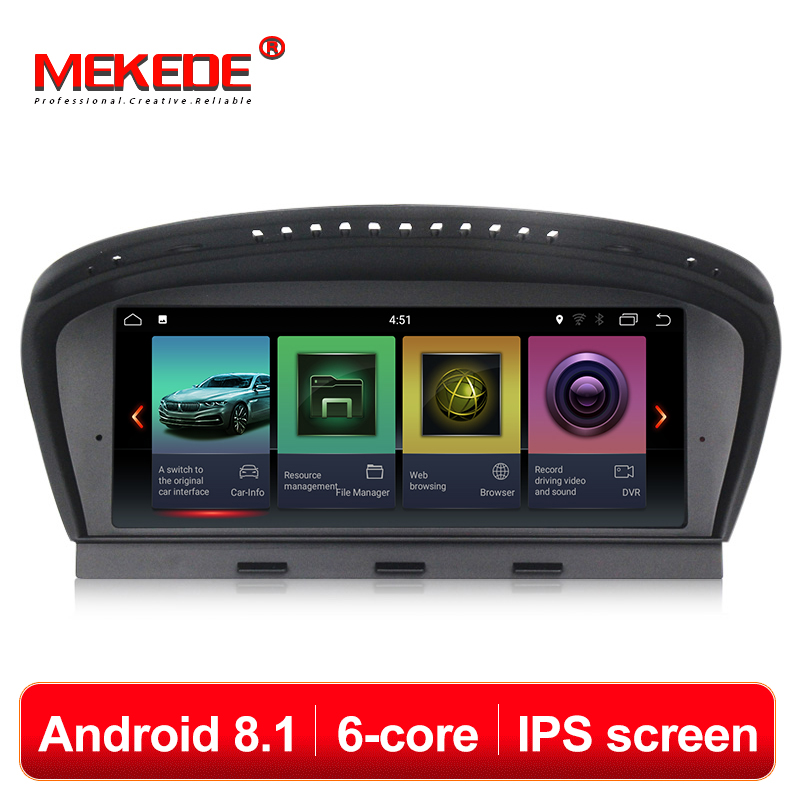 MEKEDE HD IPS ID7 PX6 6 núcleos android 8.1 do gps do carro dvd player multimídia para BMW Série 5 E60 E61 e63 E64 E90 E91 E92 CCC CIC