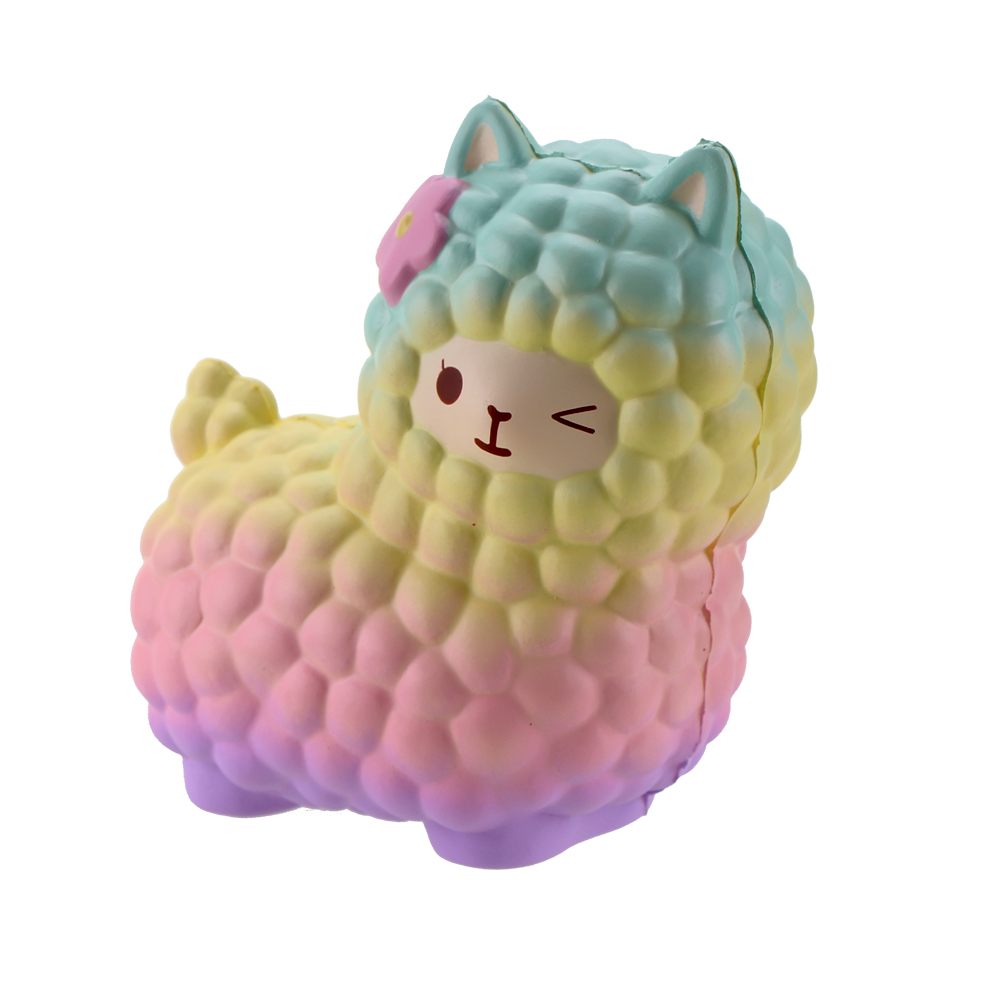 Squsihies Stress Toys Squishy Slow Rising Stress Toys Alpaca 7.1 Rainbow (4)
