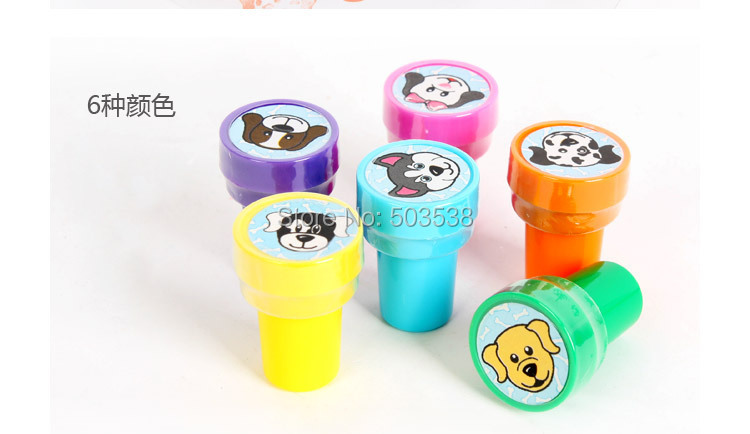 12PCS/LOT.Dog stamp,Cartoon stamper,Kids toys,Novelty toy,Promotion toy,Fantastic toy,Birthday gift,DIY crafts,6 design