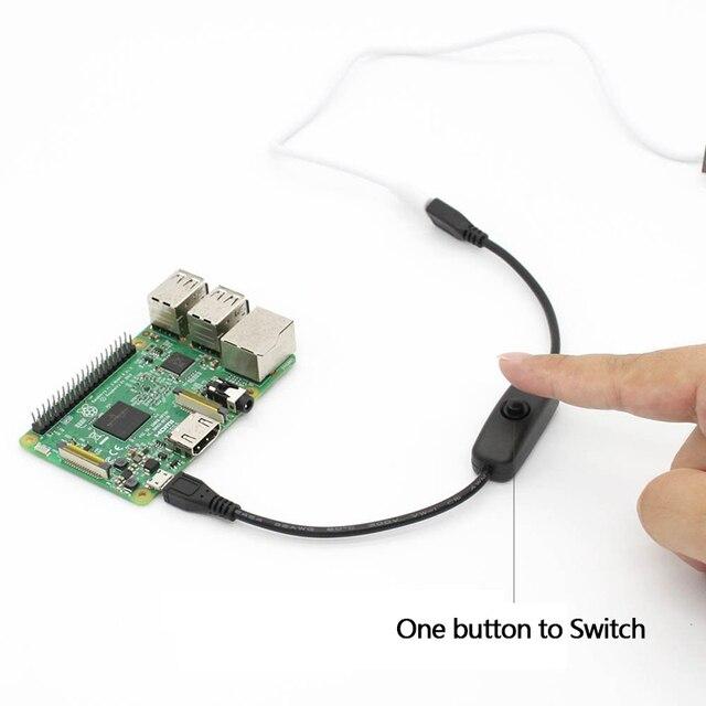 ل Raspberry PI 3 تمديد الطاقة كابل يو إس بي كابل مع ON/OFF التبديل السلطة التحكم تبديل ل Pi 3 نموذج B/B/2/صفر/ث