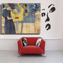 Home Decor Wall Art Gustav Klimt Music 100%handmade canvas painting art Abstract Oil Painting Canvas for living room no Framed