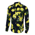Мужские Рубашки Горячие 2016 Мода Длинным Рукавом Печати Цветочные Рубашки Мужчины Slim Fit Рубашки мужская Повседневная Гавайская Рубашка Camisa Masculina