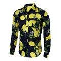 Mens Shirts Hot 2016 Fashion Long Sleeve Print Floral Shirt Men Slim Fit Shirts Men's Casual Hawaiian Shirt Camisa Masculina