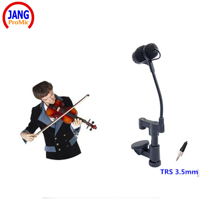 Professional Lapel Condenser Mandolin Violin Microphone Instrument Microfone for Sennheiser Wireless System TRS 3.5mm Screw Jack