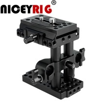 NICEYRIG Quick Release Plate Manfrotto Cheese Plate 15mm Rod Quick Rig Plate Baseplate Lifting 15mm Rail Base Plate Camera Rig