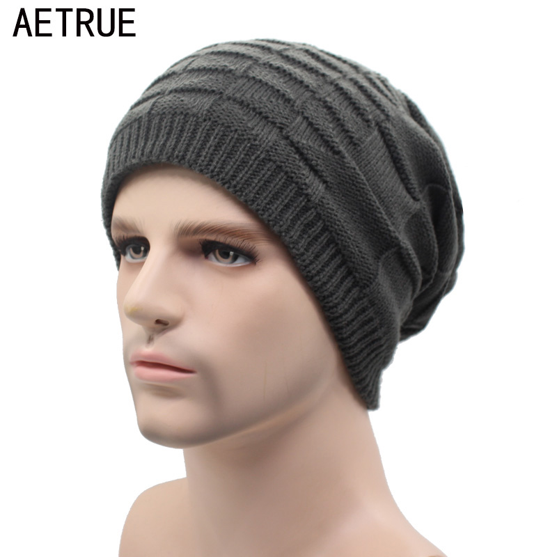 AETRUE Knitted Hat Men Skullies Beanies Winter Hats For Men Women Bonnet Caps Gorros Plain Brand Warm Fashion Winter Beanie Hat skullies