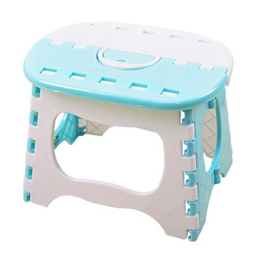 24,5*19*17,5 см светло-голубой пластик складной 6 Тип утолщаются шаг портативный детские стулья